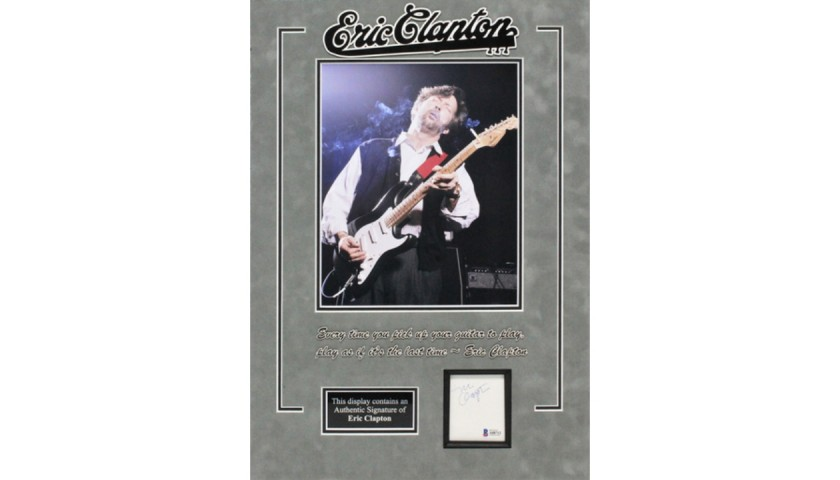 Eric Clapton Signed Display