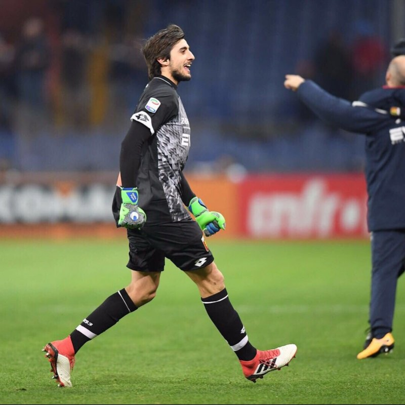 Perin's Signed Match-Worn 2018 Genoa-Inter Shirt
