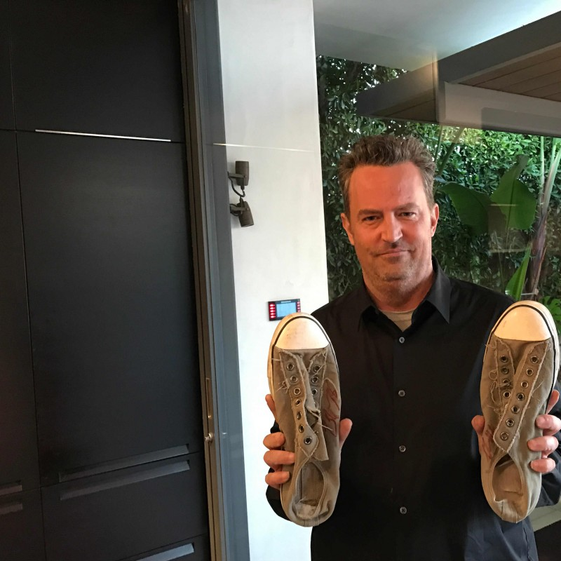 Matthew Perry's Autographed Converse Trainers from his Personal Collection