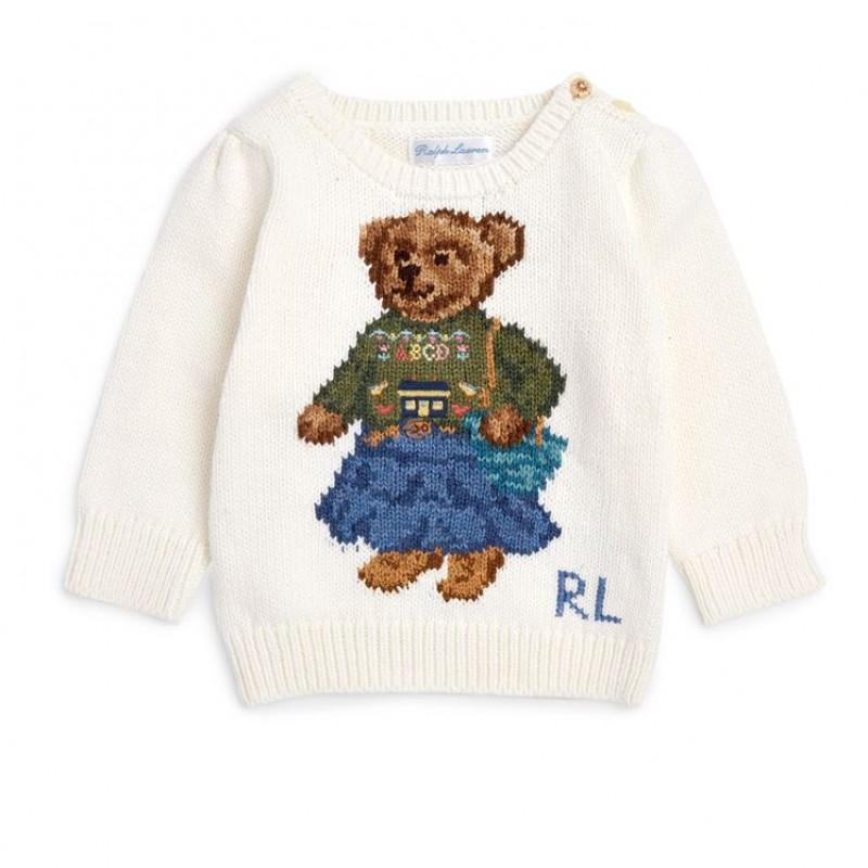 Ivory Teddy Bear Sweater by Polo Ralph Lauren + Teddy Bear