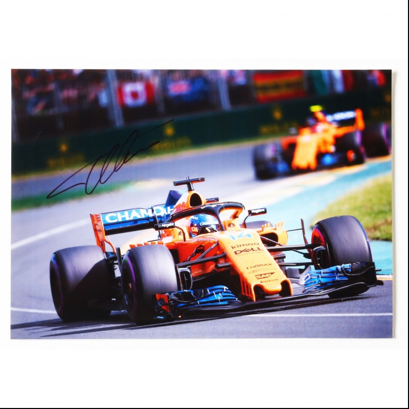 Fernando Alonso F1 A4  Signed Photograph