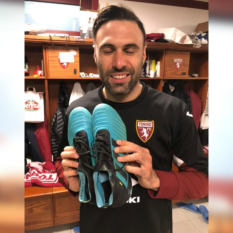 Adidas Boots Worn and Signed by Salvatore Sirigu
