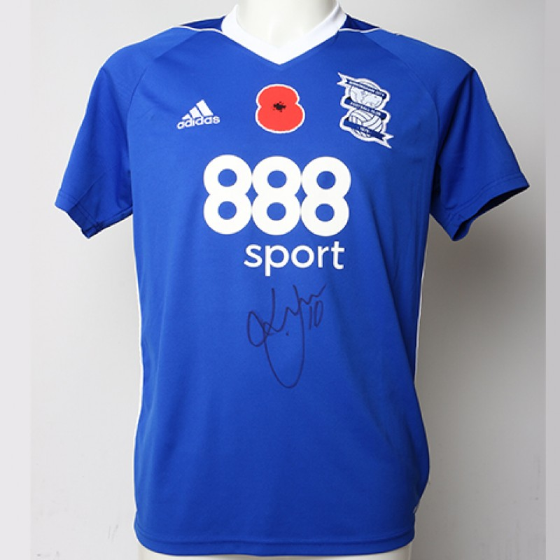 Poppy Shirt Signed by Birmingham City FC's Lukas Jutkiewicz