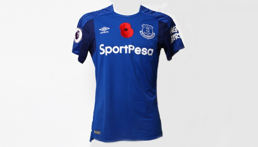 newest d8fe8 dceb1 Issued Poppy Home Game Shirt Signed by Everton FC's Idrissa Gana Gueye -  CharityStars