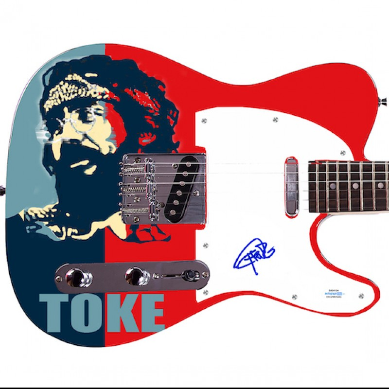 Tommy Chong Signed Guitar