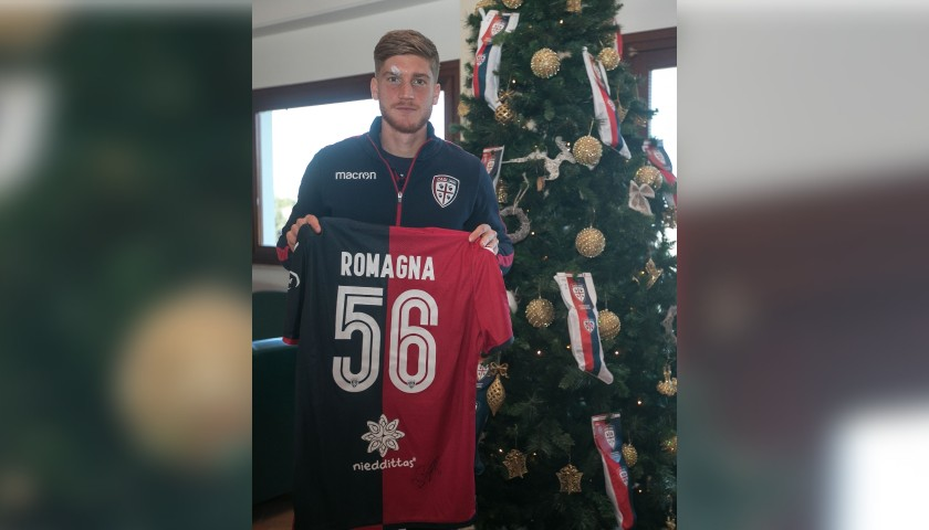 Cagliari Festive Shirt - Worn and Signed by Romagna