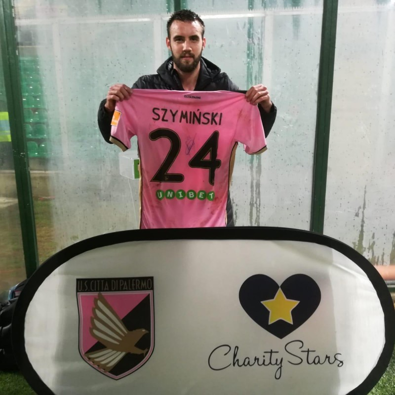 Szyminski's Worn and Signed Shirt, Palermo-Foggia 2019