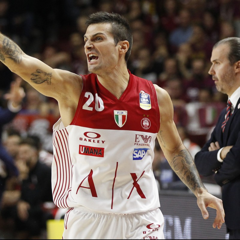 Cinciarini's Olimpia Milano Jersey, 2018/19 - Signed by the Roster