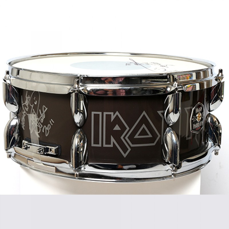 NICKO MCBRAIN – Iron Maiden Signed Snare Drum