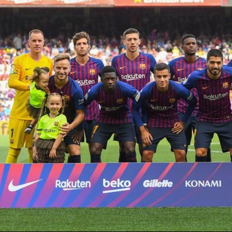 Ter Stegen's Match Shirt, Barcelona-Athletic Club 2018