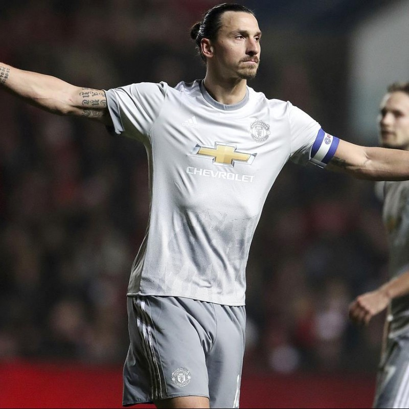 Ibrahimovic's Match-Issue/Worn Shirt, Bristol-Manchester Utd 2017