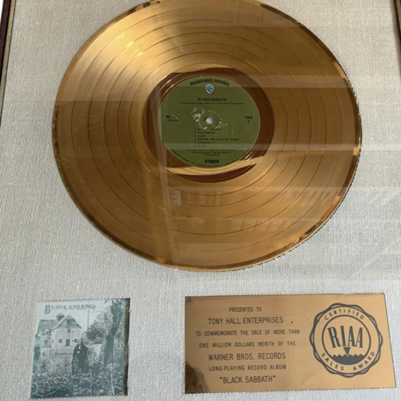 Black Sabbath RIAA Certified Award