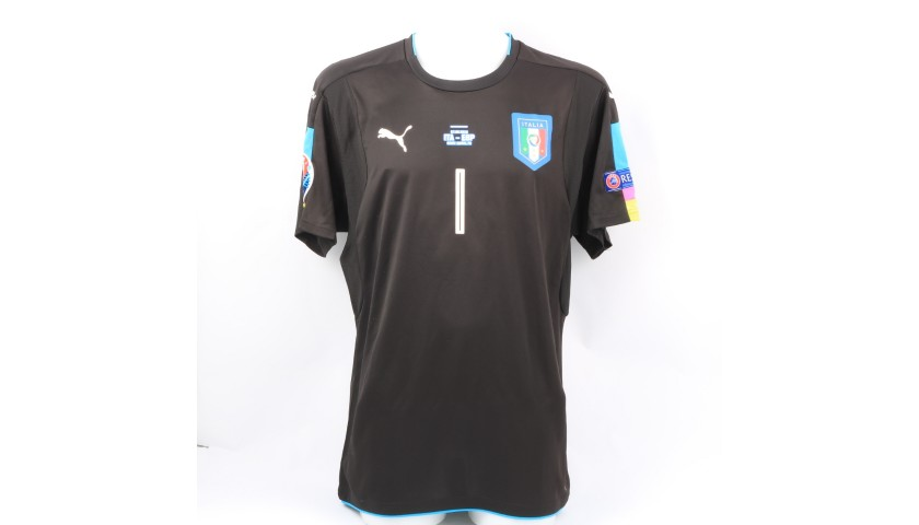 Buffon's Signed Match Shirt, Italy-Spain 2016