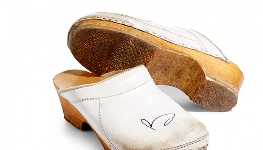 Brian May's Autographed White Clogs