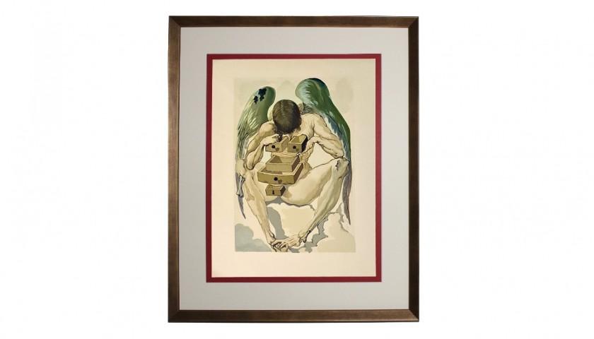 Original Board by Salvador Dalì - Divine Comedy Purgatory Canto I