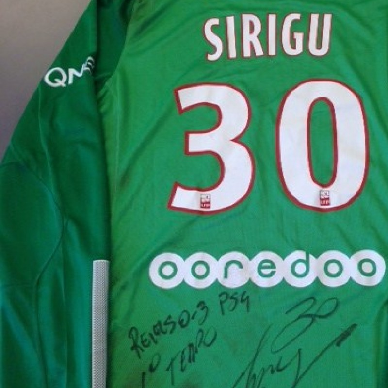 Paris Saint-Germain worn shirt by Salvatore Sirigu, Stade Reims-PSG, Ligue 1 2013/2014