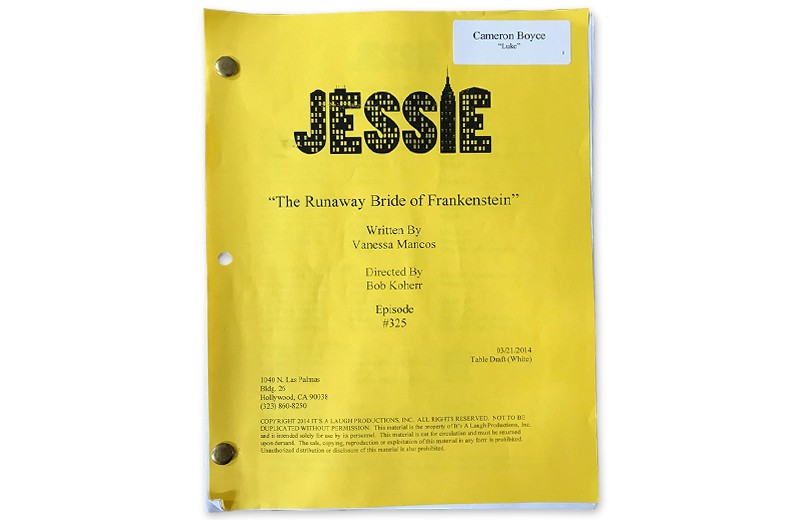 Signed and Personalized Script