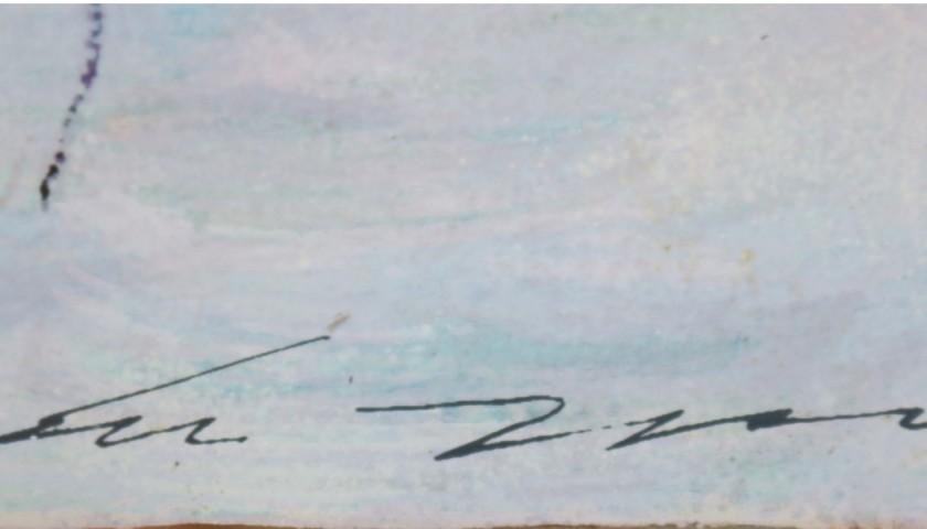 Artwork on Silver Plate by Ernesto Treccani