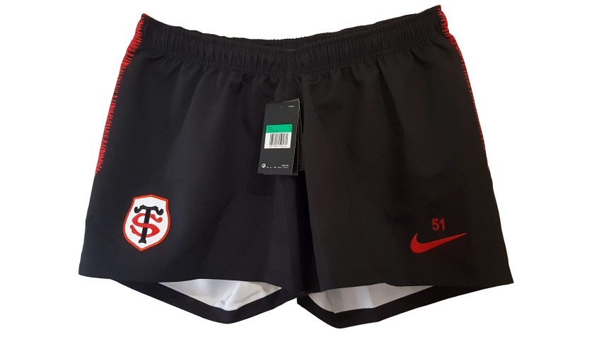 Stade Toulousain Rugby Shorts Issued to Ghiraldini