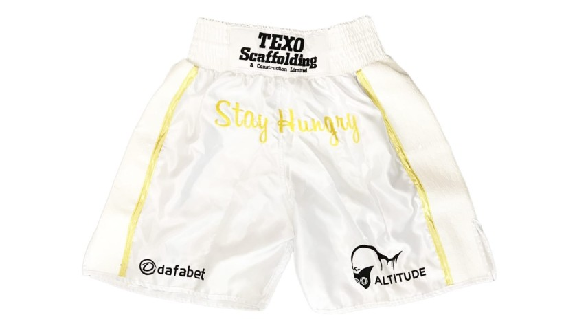 Under Armour Boxing Shorts Signed by Anthony Joshua