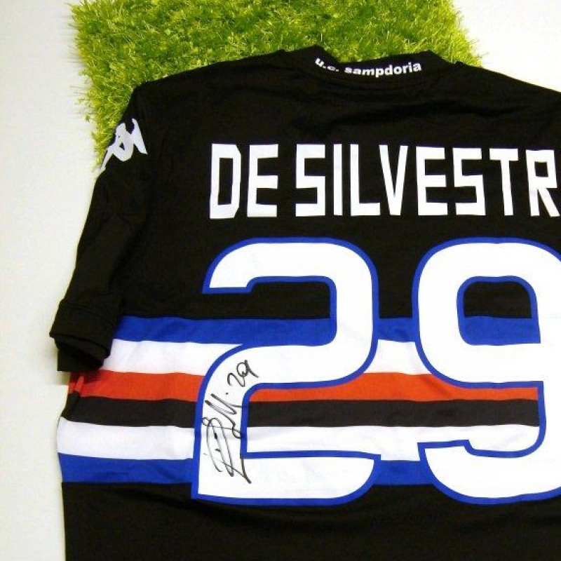 Sampdoria match issued shirt, De Silvestri, Serie A 2013/2014 - signed