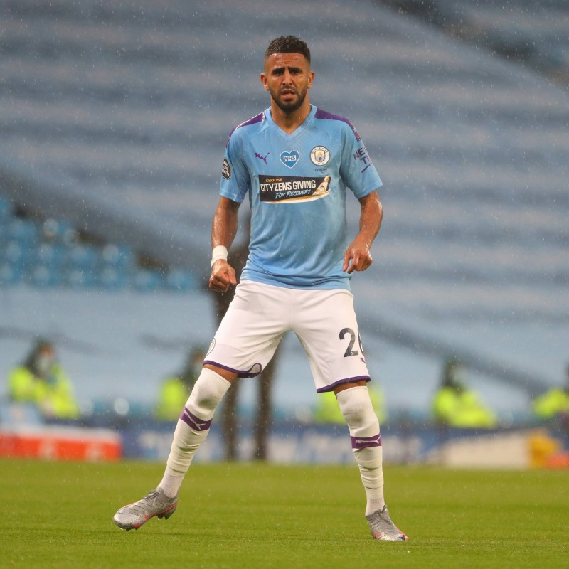 Cityzens Giving for Recovery Match Issued Shirt Signed by Riyad Mahrez