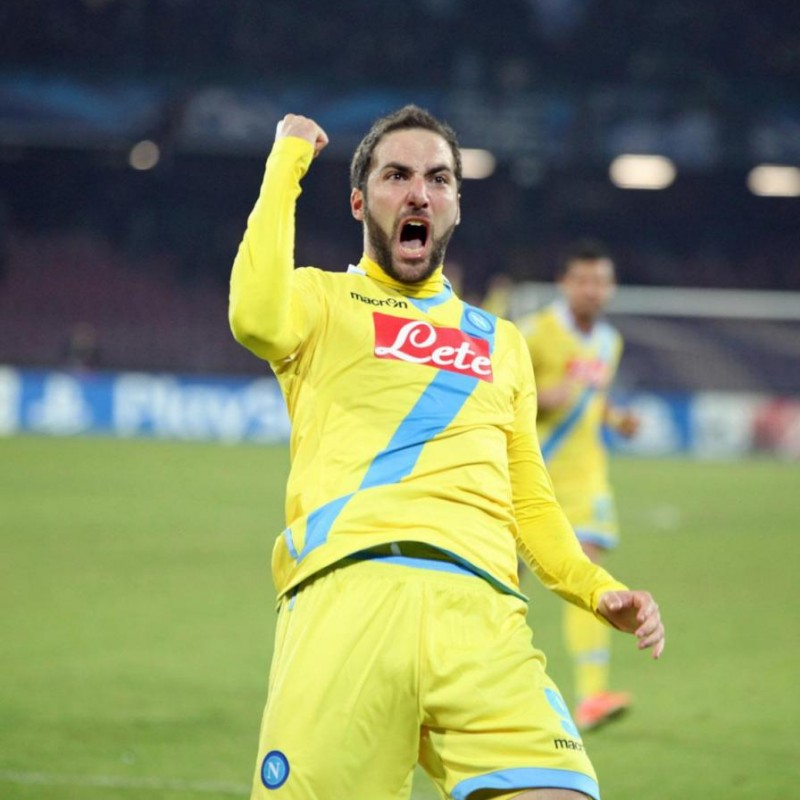 Higuain's Napoli Worn and Signed Shirt, EL 2013/14