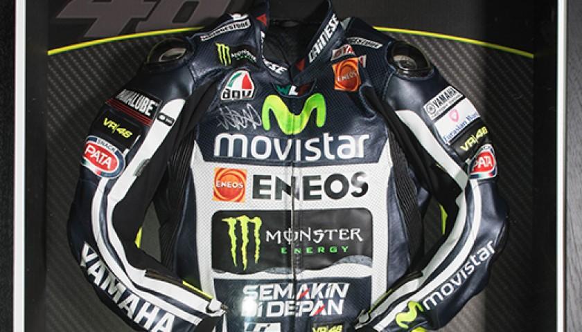 new arrival 31bc9 62386 Tuta da corsa Moto GP autografata da Valentino Rossi - Replica -  CharityStars