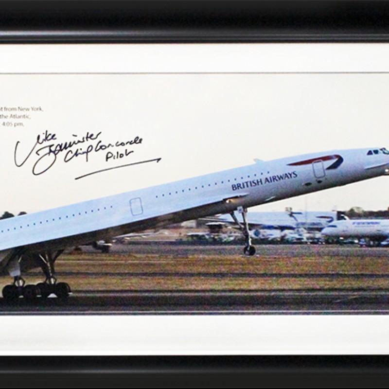 """Presentazione """"Ultimo atterraggio"""" Concorde - Autografata"""