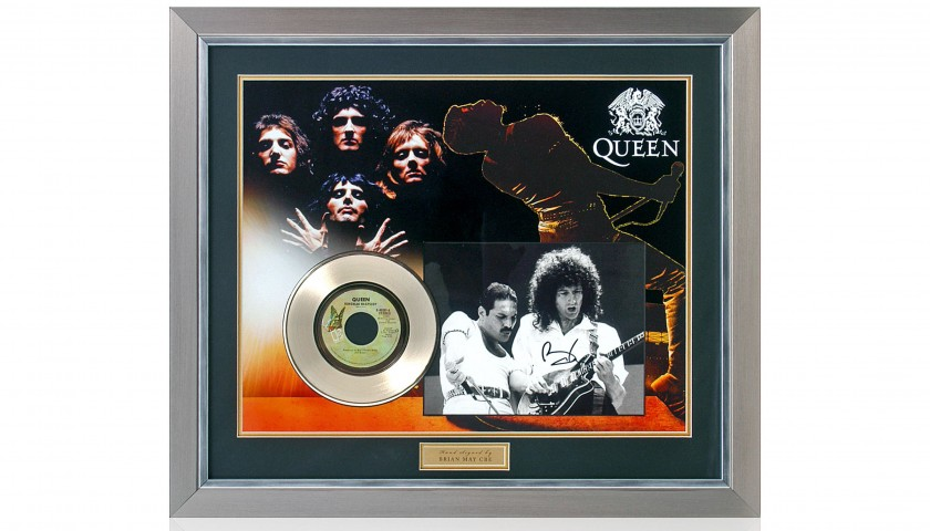 Bohemian Rhapsody Gold Disc Presentation Hand Signed by Brian May