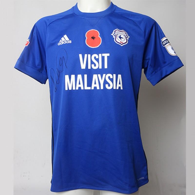 Poppy Shirt Signed by Cardiff City FC's Danny Ward