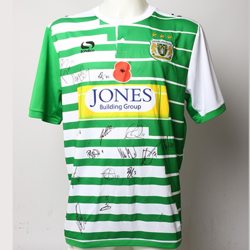 Poppy Shirt Signed by Yeovil Town F.C.