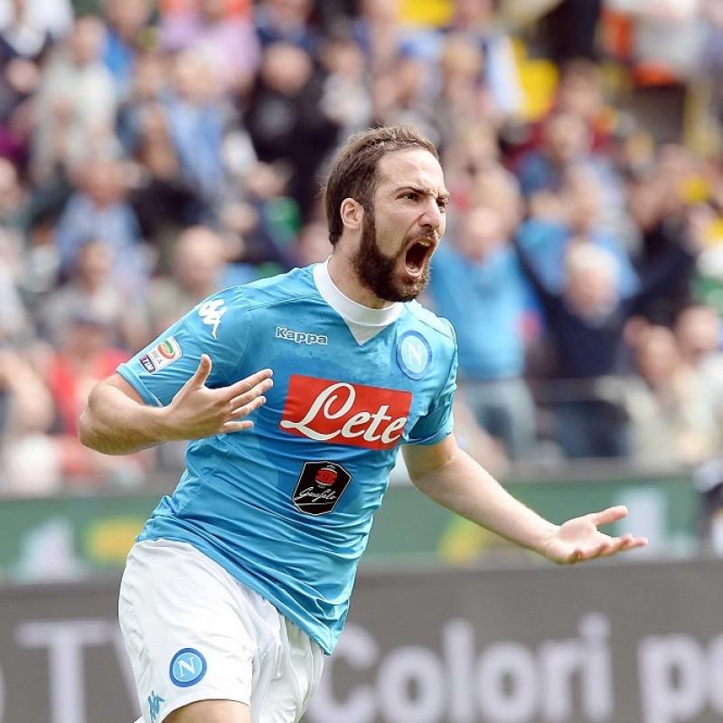 Higuain's Napoli Signed Match Shirt, 2015/16
