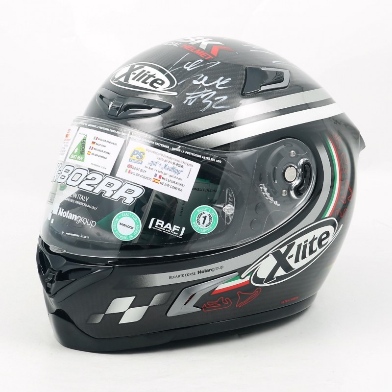 Official WorldSBK Helmet Signed by Savadori, Rea, Lowes and Sykes