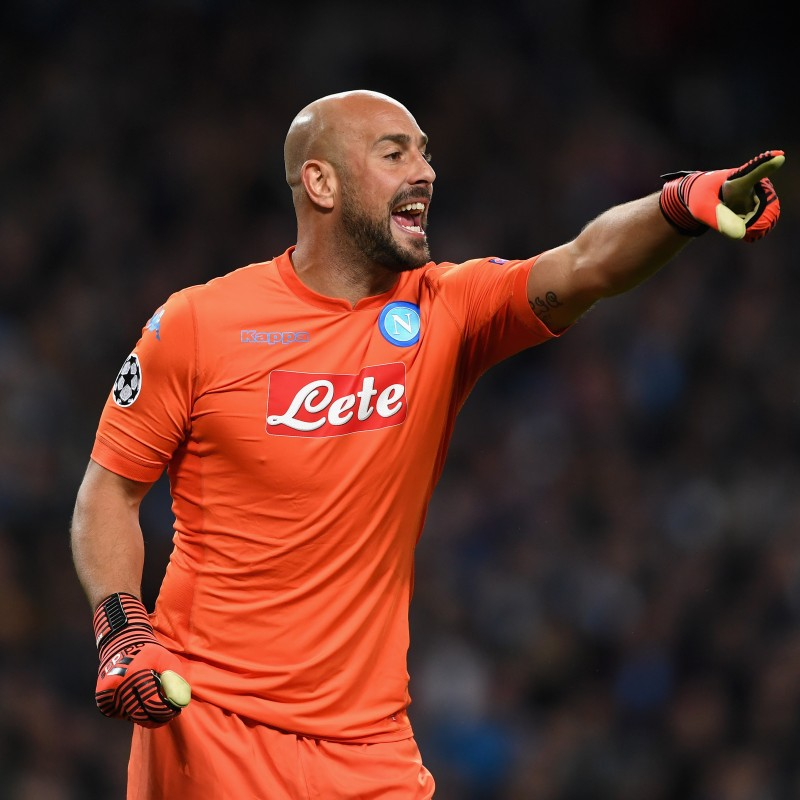 Reina's Issued/Worn Napoli Shirt, Autographed 2017/18