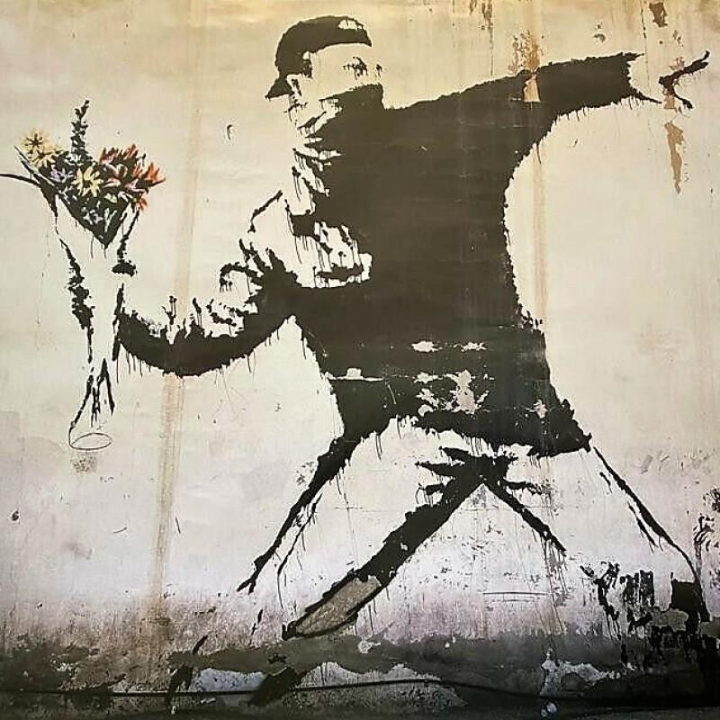 """""""L'arte della ribellione"""" poster cinematografico del documentario di Banksy"""