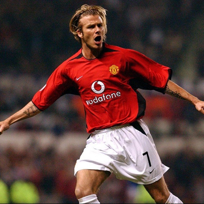 Beckham's Official Manchester United Signed Shirt, 2002/03