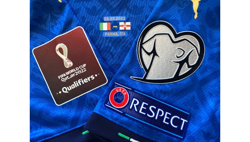 Chiesa's Match Shirt, Italy-Northern Ireland 2021