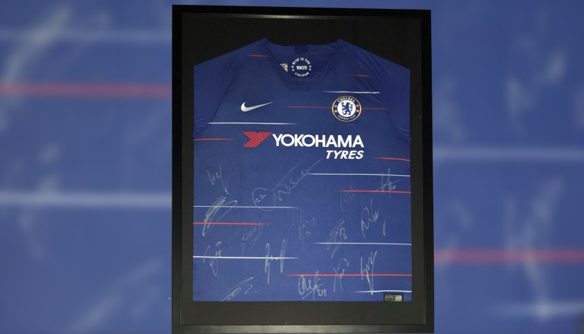 Official Chelsea Shirt Signed by the Team