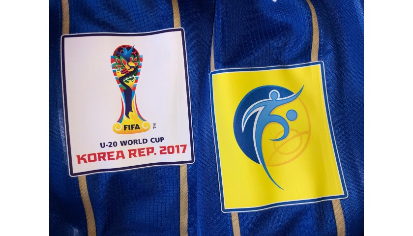 Orsolini's Italy Match Shirt, U-20 World Cup 2017
