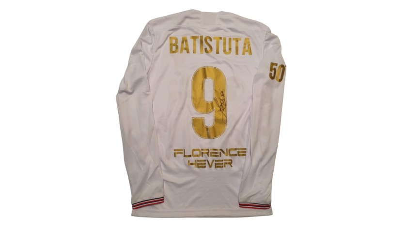 Batistuta's Fiorentina Signed Shirt, 50th Birthday Special Edition