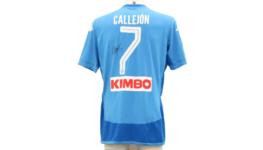 Callejon's Official Napoli Signed Shirt, 2017/18