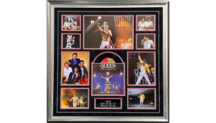 Freddie Mercury Signed Queen Display