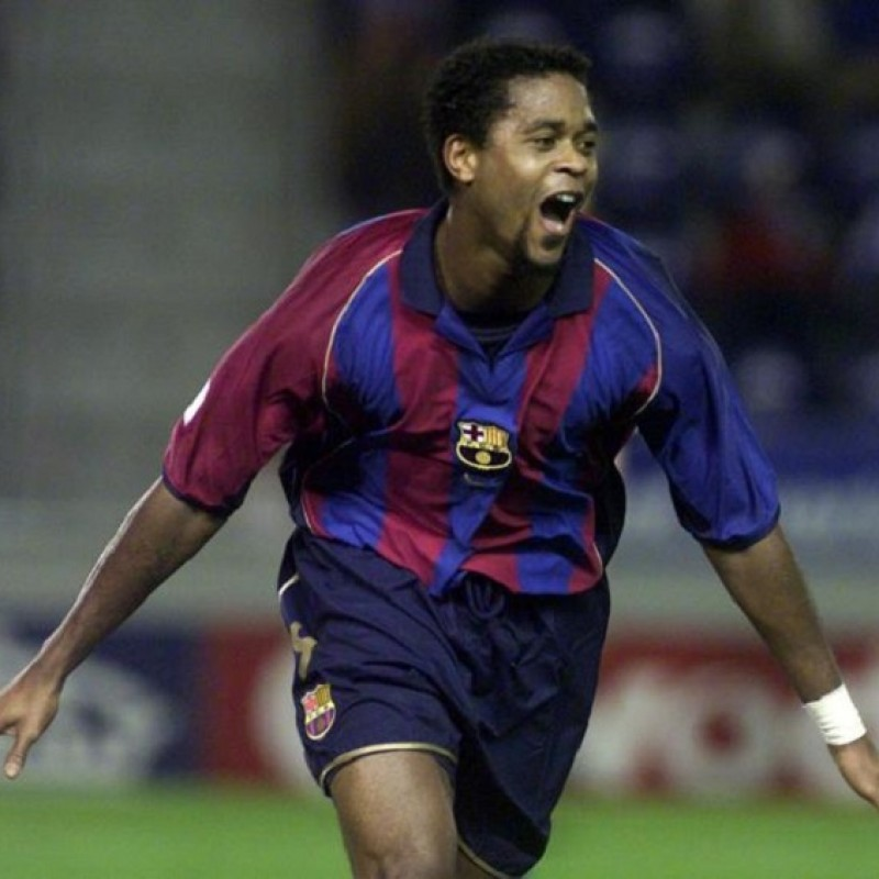 Kluivert's Official Barcelona Signed Shirt, 2001/02