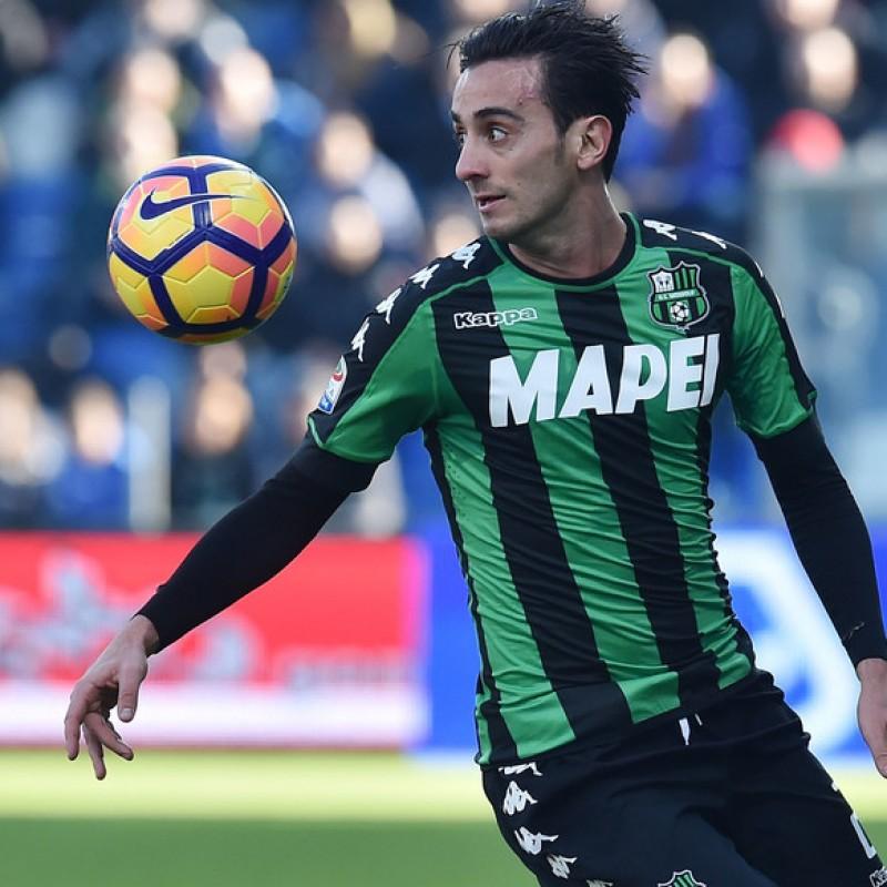 Aquilani Sassuolo Match Worn Shirt, Serie A 2016/17