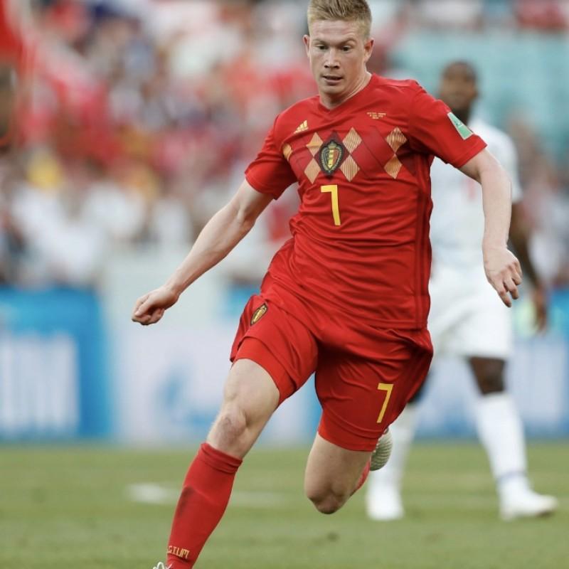 watch a83bb 3da76 2018 FIFA World Cup Kevin De Bruyne Signed Belgium Shirt ...