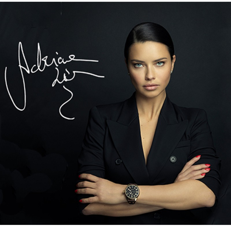 Adriana Lima Autographed Boxing Photo