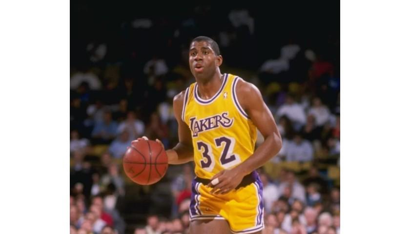 Magic Johnson Hand Signed LA Lakers Jersey