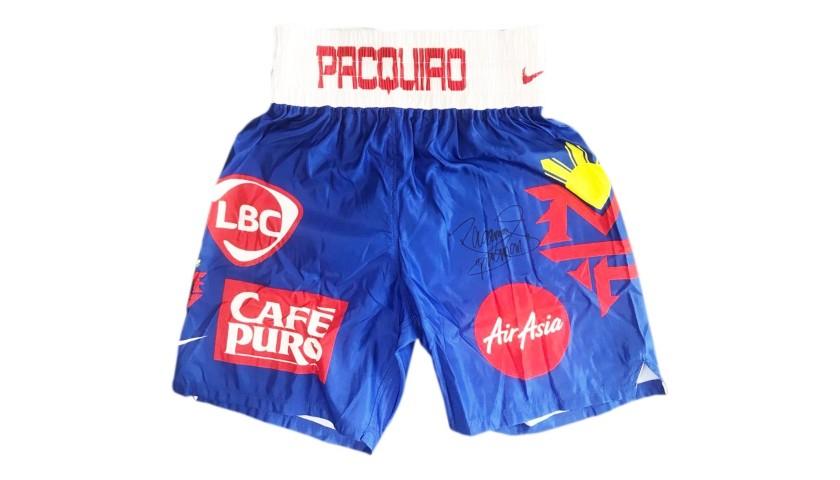 diluido Subir postura  Nike Boxing Shorts Signed by Manny Pacquiao - CharityStars