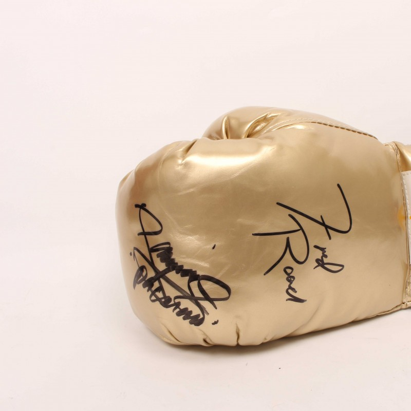 Freddie Roach and Manny Pacquiao Signed Boxing Glove